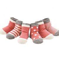 4 Pairs Baby Kids Socks/ High Quality/ Cotton Baby Socks, Pink