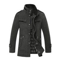 Amtify Mens Military Jacket with Stand Collar