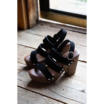 Flower Wooden Platform, Black | Chinese Laundry