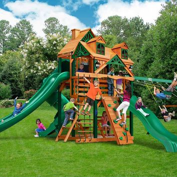 Gorilla Playsets Great Skye II Malibu Wooden Swing Set