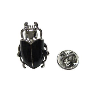 Black Beetle Insect Lapel Pin