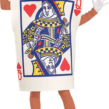 women's costume: queen of hearts card (ru)