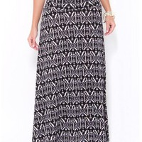 Floral Aztec Maxi Skirt - JUST ARRIVED