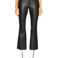 Helmut Lang Leather Flare Pant in Black | FWRD