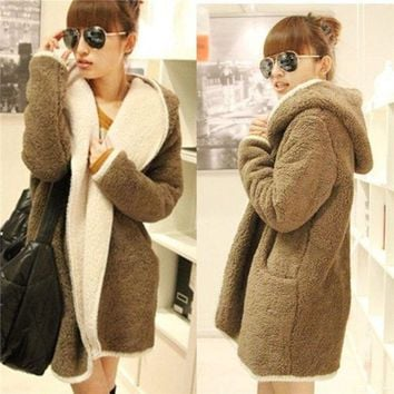 PEAPIX3 Fashion Women Cashmere Wool Winter Parka Coat Trench Outwear Jacket Cardigan = 1932570052