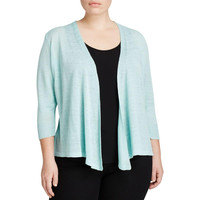 Nic + Zoe Womens Plus Knit Multi-Way Cardigan Sweater