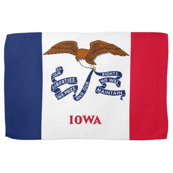 Kitchen towel with Flag of Iowa, U.S.A.