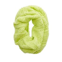 Aerie Open Knit Circle Scarf, Prime Lime | Aerie for American Eagle