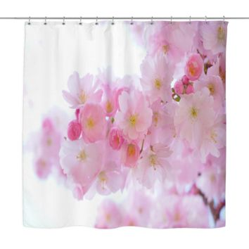 Japanese Cherry Trees Shower Curtain