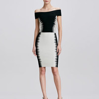 Herve Leger Bertha-Collar Dress