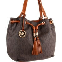 Michael Michael Kors Jet Set Signature Print Large Gathered Tote