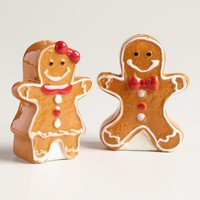 Gingerbread People Salt and Pepper Shaker Set