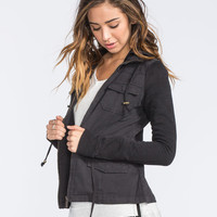 Others Follow Breakup Womens Twill/Fleece Jacket Black  In Sizes