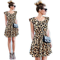 Animal Instincts Short Sleeve Dress