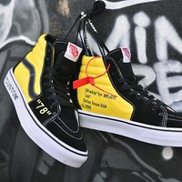 Vans x OFF-WHITE Old Skool Woman Men Fashion Sneakers Sport Shoes