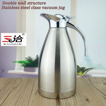 1.2L Coffee Thermos Mug Stainless Steel Teapot Vacuum Flasks Thermo Hot Water Bottle 1200ml stainless steel vacuum jug