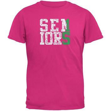 Graduation Seniors 2015 Green Pink Adult T-Shirt