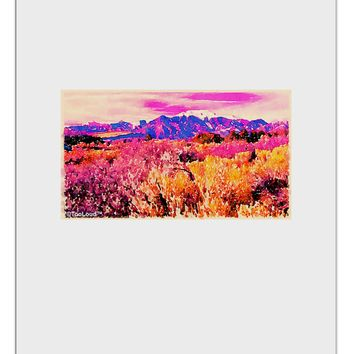 Colorful Colorado Mountains Aluminum Dry Erase Board by TooLoud