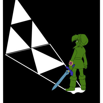 Legend of  zelda print 8.5x11