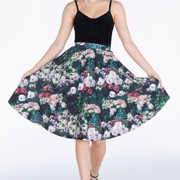TAKE MY MONET POCKET MIDI SKIRT