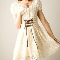 Temperament Round neck short sleeve lace dress by emma668 on Etsy [shop closed]