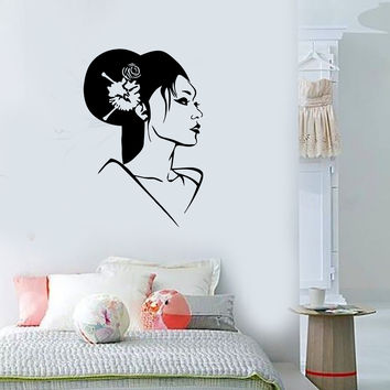 Wall Stickers Vinyl Decal Geisha Oriental Japan Sexy Girl Beautiful Woman (ig1605)