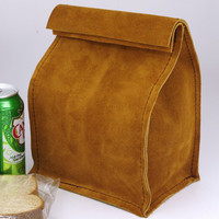 $40.00 Leather Lunch Bag size Medium by HomesteadLeatherWrks