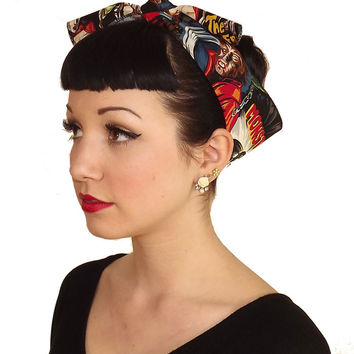 Horror Monster Fabric Head Wrap Scarf