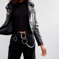 ASOS Chain & Ring Detail Waist & Hip Belt at asos.com
