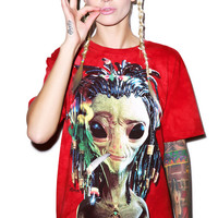 Jammin' Alien Tee Red