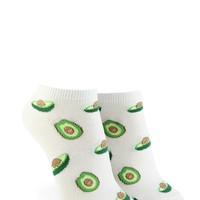 Avocado Print Ankle Socks