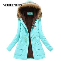 MQUEENFOX 2017 New Thickening Cotton Winter Jacket Parkas Female Parkas for Women Winter Women Winter Coat Womens Outwear