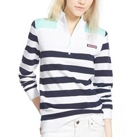 Women's Vineyard Vines 'Shep' Quarter Zip Pullover,