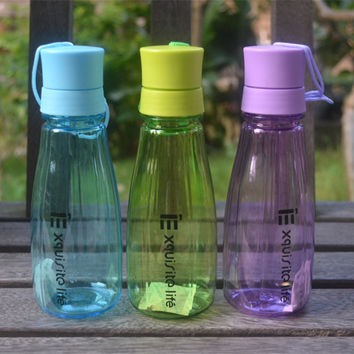WATER Bottle,480ML,Fashion,tour,Lemon Juice Readily cup space cup water bottles For kids Best Gift,Double cover,2017,New Arrival