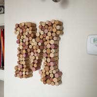 M is for MOM Personalized wine cork letters-large size