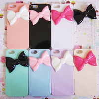 YOU CHOOSE IPHONE 5 Pastel Large Bowtie Candy Colors Rainbow Designer Elegant Decoden Cell Phone Case
