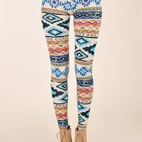 Good Girl Aztec Legging - Blue