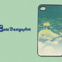 blue whale iphone 4 case - iphone 4 case, iphone 4s case iphone 4 skins iphone cover