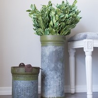 Recycled Metal Canister Vase