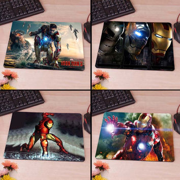 Ironman Iron Man Tony Starks War  Computer Mouse Pad Mousepad Decorate Your Desk Non-Skid Rubber Pad hwd celebs