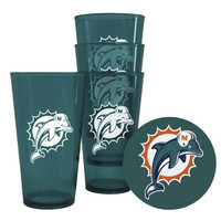 Boelter Plastic Pint Cups 4-Pack - Miami Dolphins