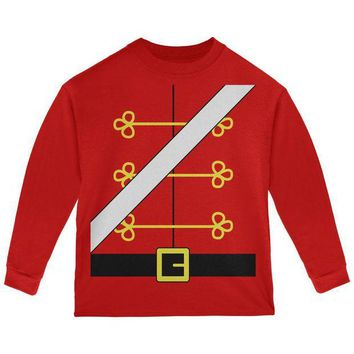 DCCKU3R Christmas Toy Soldier Nutcracker Costume Toddler Long Sleeve T Shirt