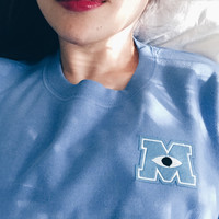 Monster U Embroidery Sweatshirts