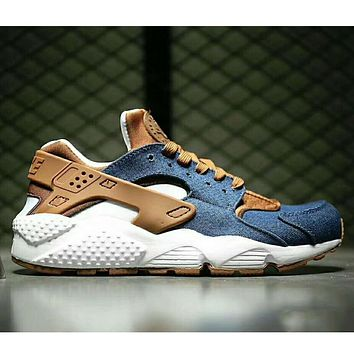 """NIKE""AIR Huarache Women Men Running Sport Casual Shoes Sneakers Cowboy blue I-HAOXIE-ADXJ"