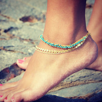 Ladies Gift Stylish Cute New Arrival Shiny Sexy Jewelry Bohemia Simple Design Chain Anklet [6048657409]