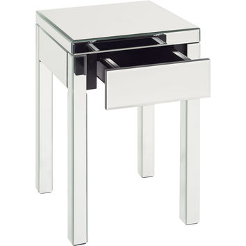 Reflections Silver Mirror End Table