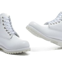 PEAPON Timberland Rhubarb Boots 2018 White  Waterproof Martin Boots