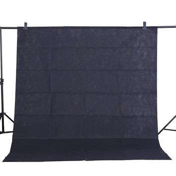 CY Hot sale Photo background cloth 1.6*3M/5*10FT Black Photography Studio Non-woven Backdrop Background Screen shooting portrait
