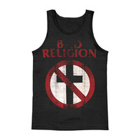 Bad Religion Men's  Distressed Crossbuster Mens Tank Black