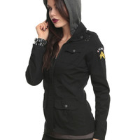 Black Military Patch Jacket